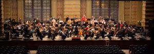 Panoramic shot rehearsal orchestra Odessa Philharmonic, Hobart Earl