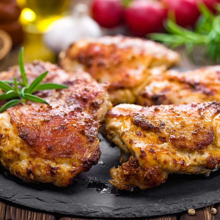 Fast & Easy Baked Chicken Thighs or Breast